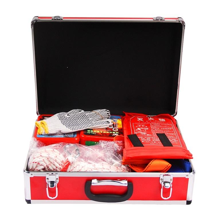 消防应急箱 消防检查应急逃生器材 火灾逃生应急箱自救包套装家用