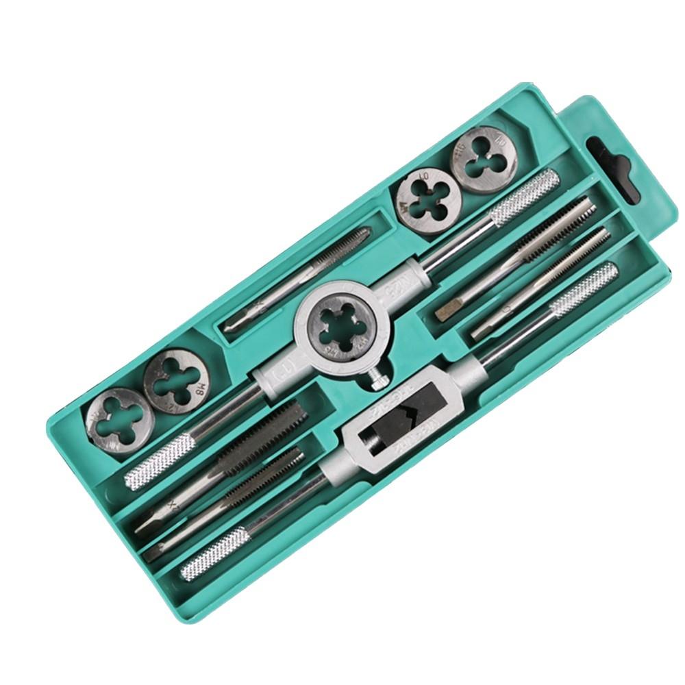 合金钢丝锥板牙套装 45件套 手动板牙 丝攻丝锥 攻丝五金 攻牙工具 丝攻套丝器